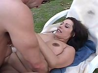 Nasty fat momma in heavy outdoor pumping thrill