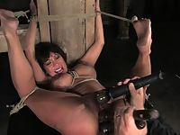 Big titty MILF bound ass fucked tickled and forced to cum.