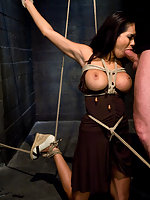 Hot Latin girl having sex in bondage.
