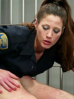 Officer Penny tries to play with Sgt. Wildes prisoner