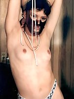 Hannibal mask and mousetraps on tits