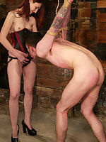 Kendra wastes no time in restraining her philandering fuck-toy.