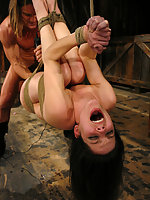 Bobbi Starr is fucked in vulnerable bondage positions.
