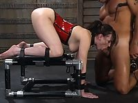 Dana DeArmond is dominated bound and fucked.