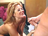 Matured blonde tramp still proving her blowjob skills in a cum popping pleasure.