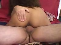 Two dicks pounding one pussy