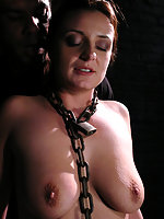 Danish babe in submission and bondage sex.
