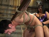 Flogged dildo fucks him Mika Tan Reminds Daniel whos Mistress