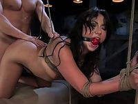 Girl submits to punishment and bondage sex.