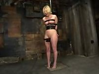 Crystal Frost cums while Hogtied!