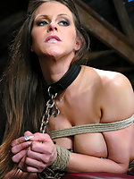 Hot busty model in BDSM and hardcore sex.