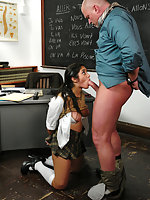 School girl tied up and fucked for the grade