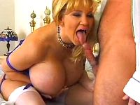 Milf with amazing bust goes naughty