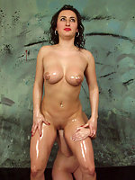 Hot girls oiled up and fisting