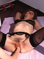 Mature hairy slut fist fucked