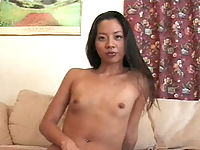 Demured oriental babe arousing her partner thus receiving a heavy sex play.