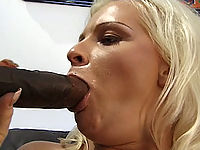 Two black cocks take on a white pussy