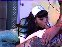 Nurse In Latex Uniform Fucked Hard By A Tattooed Dude