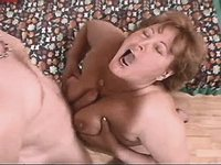 Mom gets titsfuck and jumps on cock