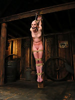 Sexy blond gets tied up hard abused DP'd and forced to CUM.