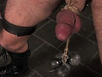 Mistress Harmony Rose whips and fucks her hooded slave