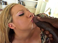 Sophia swallows his sticky load of jizz