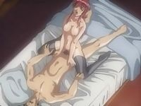 Hentai with redhead sucking cock and riding it