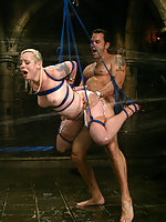 Steven and Lorelei have hot, wet bondage and sex!