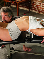 Kym Wilde uses Jamie Gillis as a workout toy