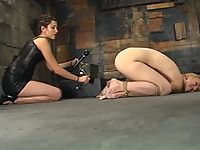 Her first time electrically dominated.