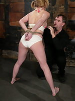 Anna Mills from Hustler's Barely Legal series is back in BDSM.