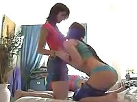Naughty amateur lesbians lip-locking in 4 lesbo porn movies